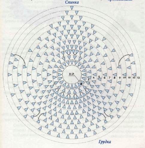 Схема сборки модульного лебедя из бумаги